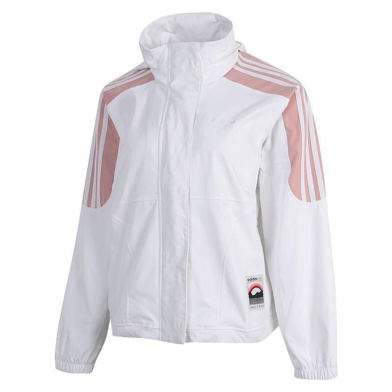 阿迪达斯生活Adidas NEO  女装 2020冬季新款运动休闲防风针织夹克 GL6074