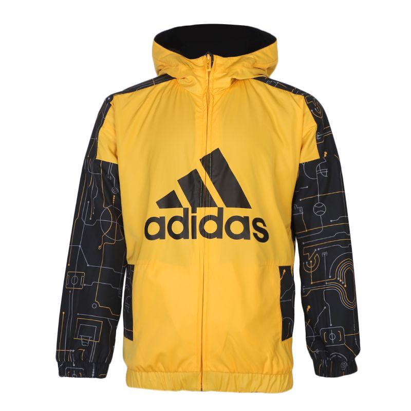 阿迪达斯ADIDAS LB FL REV JKT 儿童 运动休闲梭织夹克外套 GG3602