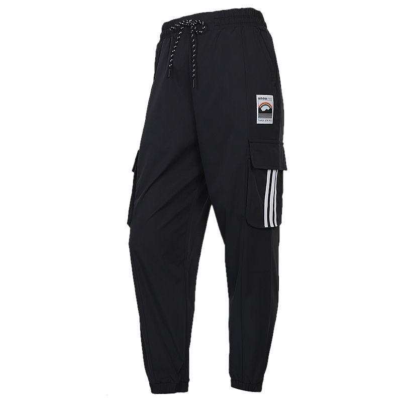 阿迪达斯生活Adidas NEO 女装 2020冬季新款休闲裤收口工装运动裤 GL6071
