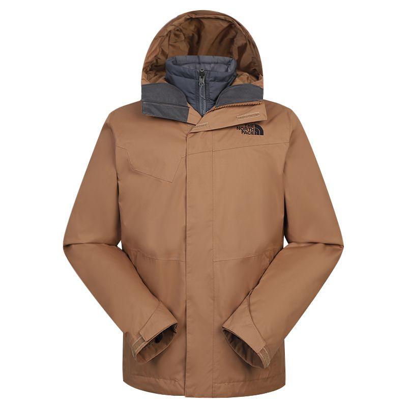 北面TheNorthFace 男装 2020秋冬新款运动夹克上衣保暖三合一冲锋衣 4U7MXC8