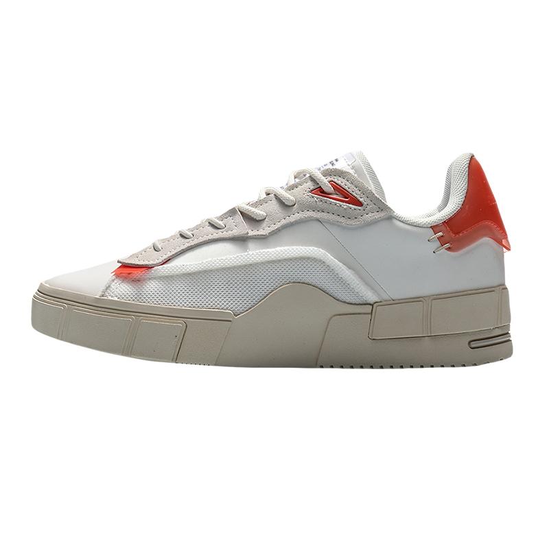 李宁 女鞋 运动鞋时尚潮流舒适透气耐磨轻便板鞋休闲鞋 AGCQ186-3