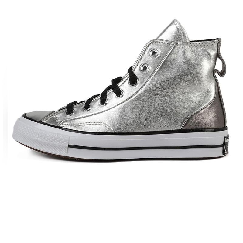 匡威CONVERSE 中性 2020秋冬新款高帮时尚潮牌运动银色帆布鞋 569432