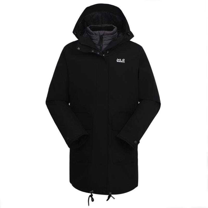 狼爪Jack wolfskin  女装 户外运动保暖防风外套冲锋衣三合一 5120141-6000