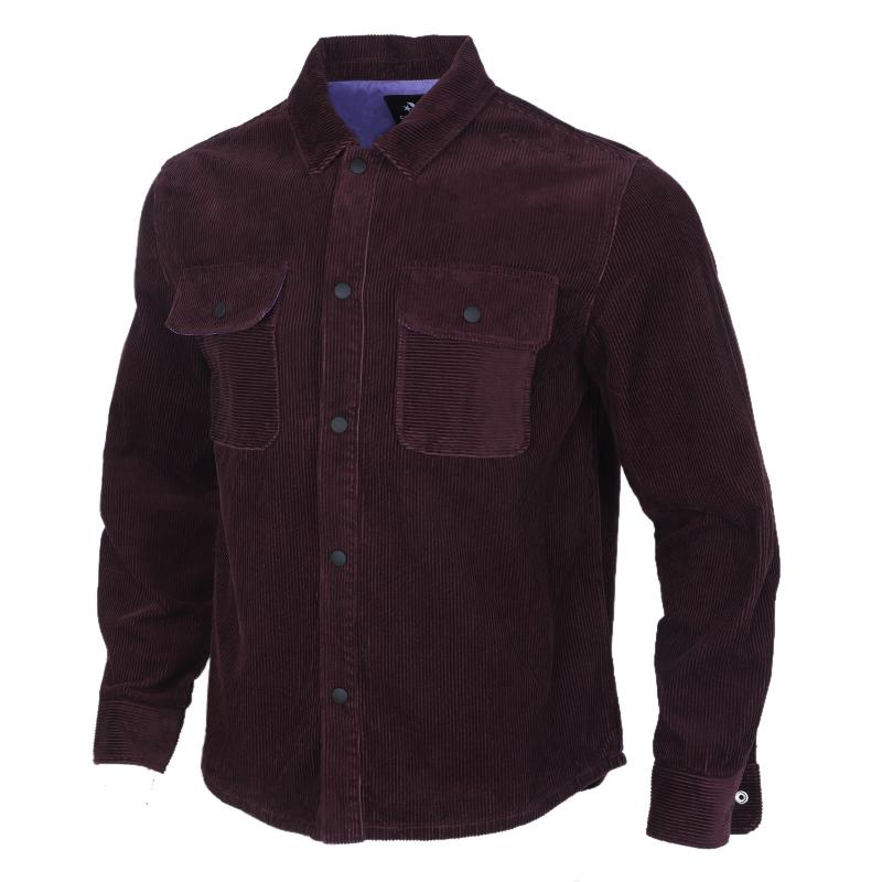 匡威CONVERSE 男子 运动休闲灯芯绒梭织夹克跑步衬衫 10019954-A05