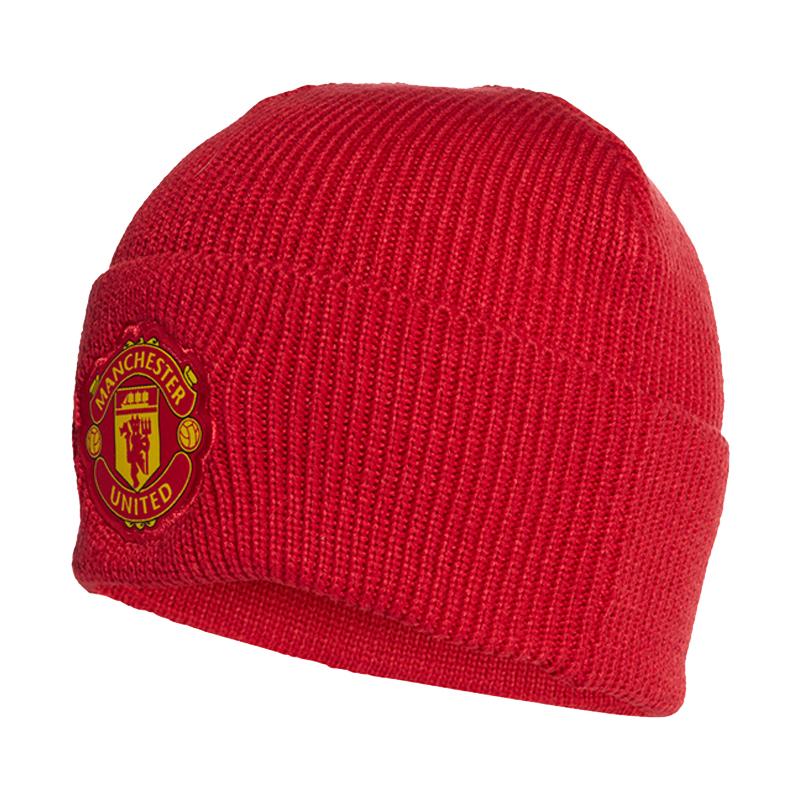 阿迪达斯ADIDAS MUFC WOOLIE 男女 帽子 运动休闲户外保暖绒线帽 FS0146