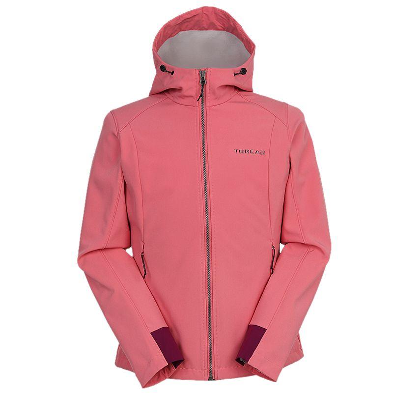 探路者TOREAD 女装 2020冬季新款运动服跑步训练健身防风休闲透气外套针织夹克 TAEI92198-A79X