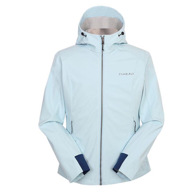 探路者TOREAD 女装 2020冬季新款运动服跑步训练健身防风休闲透气外套针织夹克 TAEI92198-CB8X