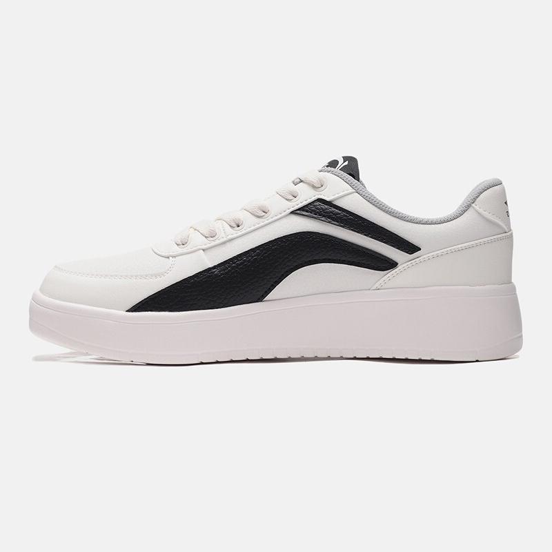 李宁 LINING 男子 小白鞋板鞋正品休闲鞋冬季保暖秋季皮面款 AGCP335-4