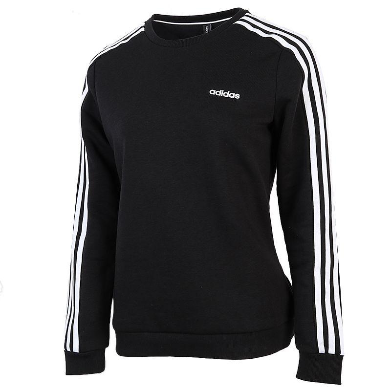 阿迪达斯生活Adidas NEO W ESNTL 3S SWEA 女装 套头衫舒适休闲圆领长袖 GJ8745