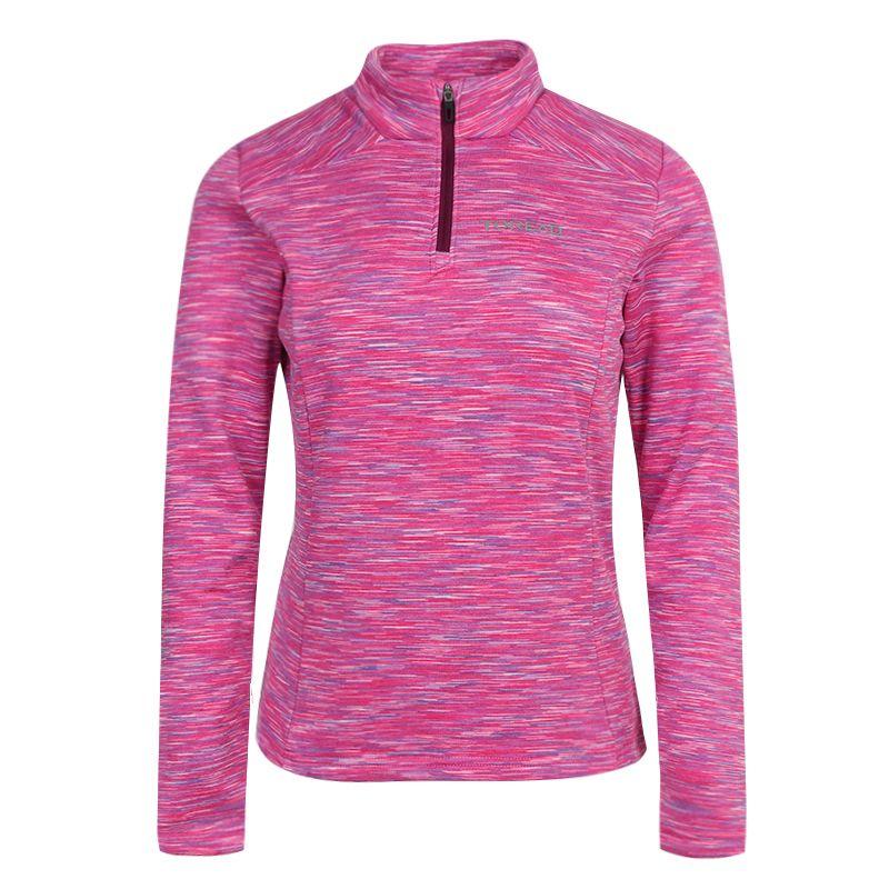 探路者TOREAD 女装 运动服跑步训练健身快干透气舒适休闲长袖T恤 TAJI92134-E35X
