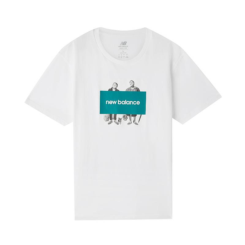 NEW BALANCE 男装 时尚舒适透气短袖T恤 AMT83535-WT