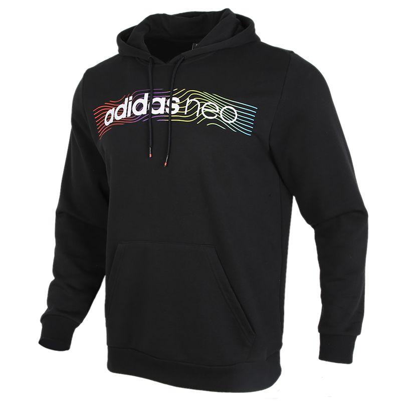 阿迪达斯生活Adidas NEO 男装 2020秋冬新款保暖套头衫运动服休闲卫衣 GM2344