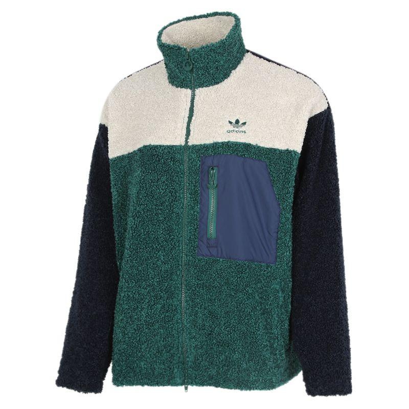 阿迪达斯三叶草ADIDAS Short Sherpa 女装 运动跑步训练保暖舒适防风休闲棉服外套 GL6407