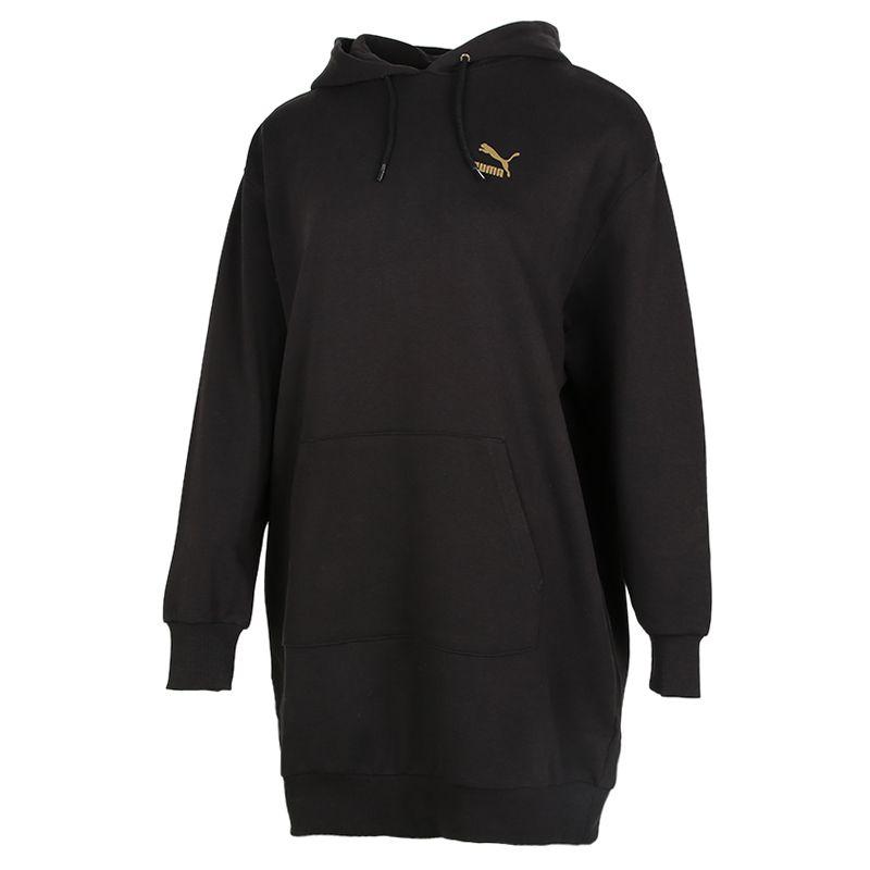 彪马PUMA Classics Hooded Longsleeve Dress 女装 运动休闲服连帽运动裙中长款连衣裙卫衣套头衫 599165-61