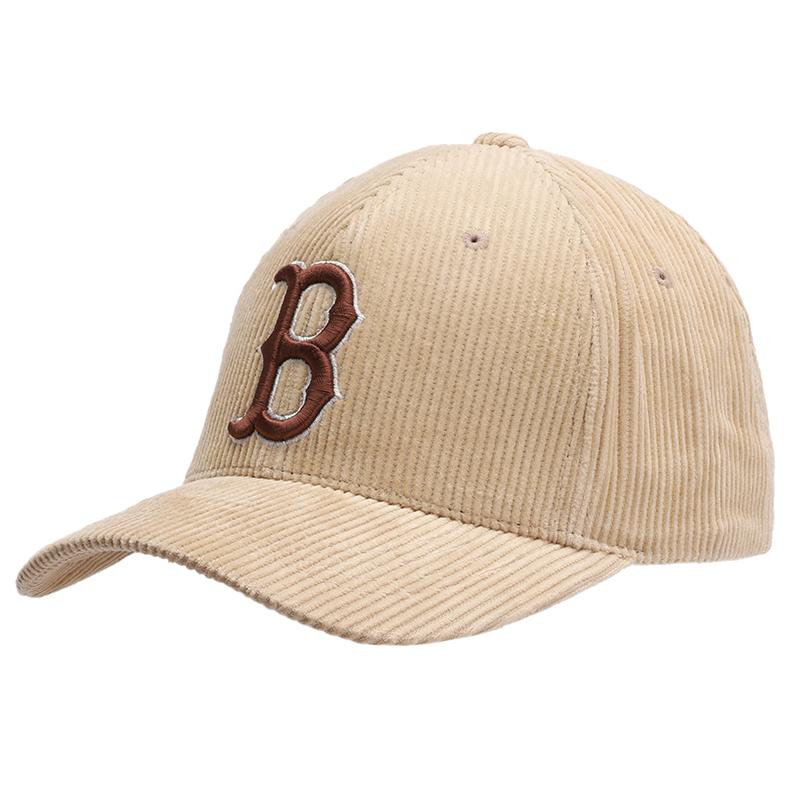 MLB 男女 灯芯绒棒球帽运动休闲帽子简约时尚鸭舌帽 32CPYG-43B