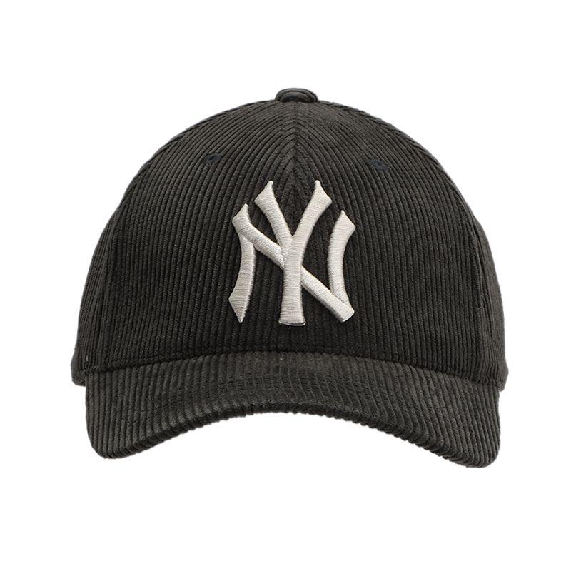 MLB 男女 灯芯绒棒球运动帽NY大logo休闲帽时尚遮阳鸭舌帽 32CPYG-50Z