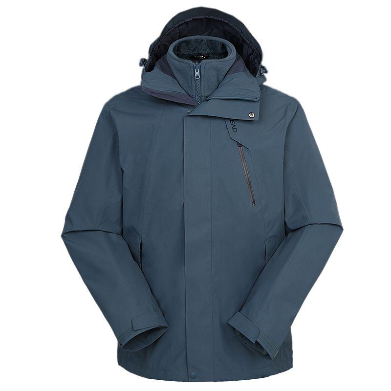 探路者TOREAD 男装 2020秋冬新款户外运动防风透气套绒保暖冲锋衣夹克外套 TAWI91107-C27X