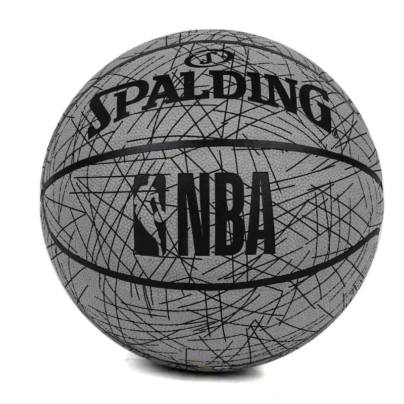 斯伯丁 室内室外耐磨街头花式水泥地彩色比赛7号篮球 76-667Y