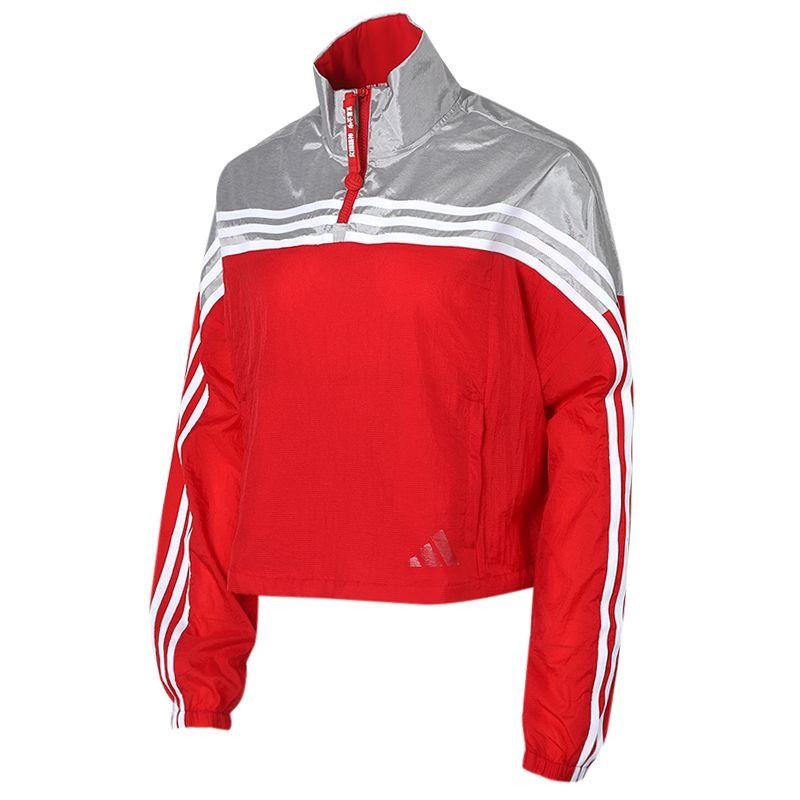阿迪达斯adidas 女装 运动跑步训练健身透气舒适防风快干休闲外套夹克 GJ9021