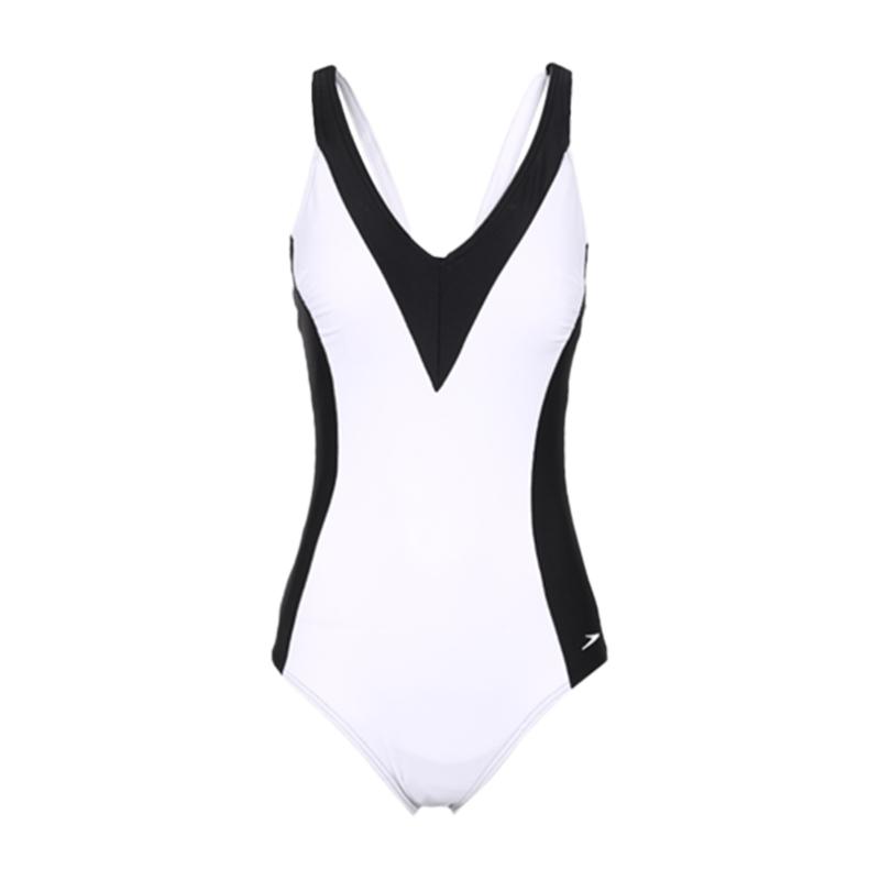 速比涛Speedo 女装 唯美性感泳衣女训练显瘦修身遮肚大码休闲游泳衣 8-113773503