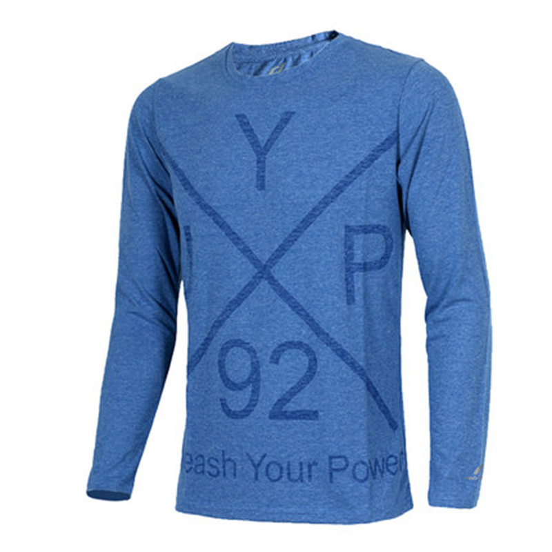 ENERGETICS  男子 运动服针织休闲透气跑步长袖T恤 256920-522