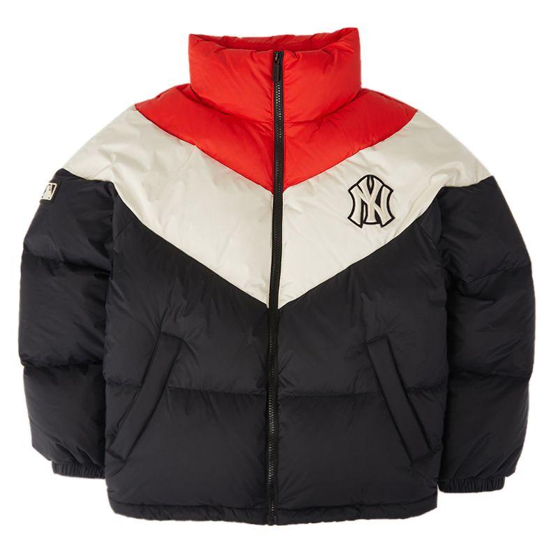 顺丰包邮 MLB 男女 纽约洋基队羽绒服NY保暖撞色拼接外套运动休闲时尚秋冬新款 31DJN3-50L