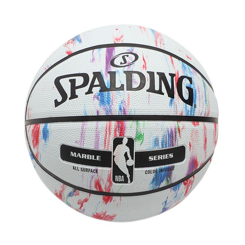 斯伯丁Spalding 室内室外橡胶水泥地彩色成人比赛NBA七号篮球 83-636Y