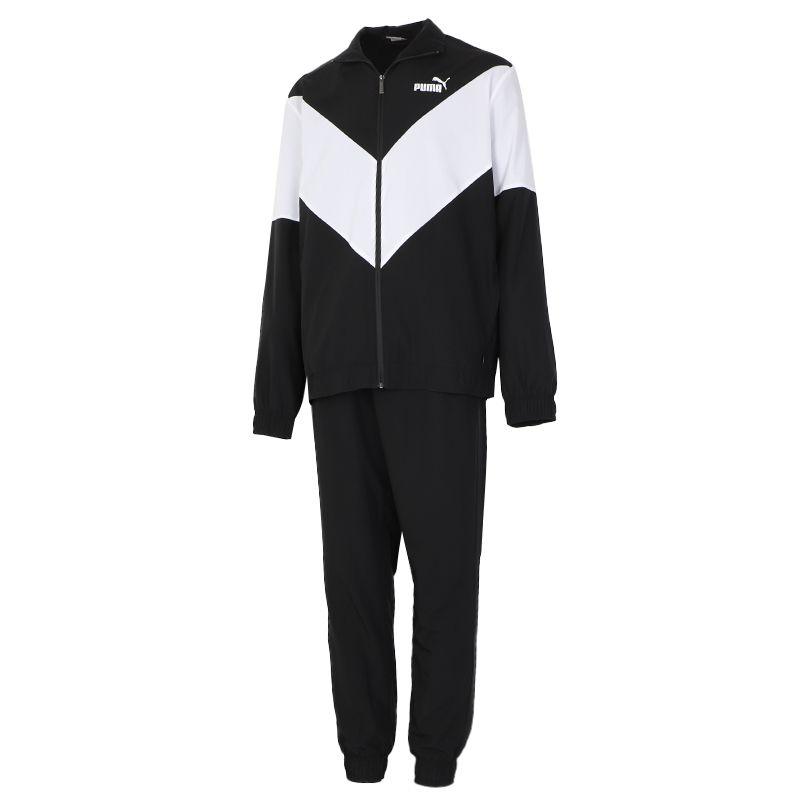 彪马PUMA 男装 春季款休闲训练套装跑步外套长裤两件套  583604-01