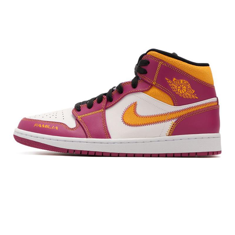 耐克NIKE 男鞋 AIR JORDAN 1 MID新款运动休闲篮球鞋  DC0350-100