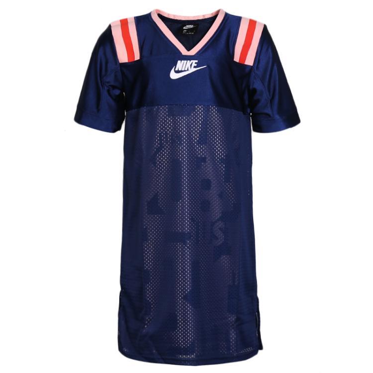 耐克 NIKE 儿童  舒适透气拼接款短袖连衣裙  BV2754-492