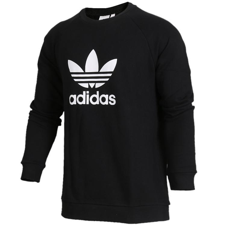 阿迪达斯三叶草Adidas 男装 运动休闲大LOGO圆领套头衫卫衣 CW1235