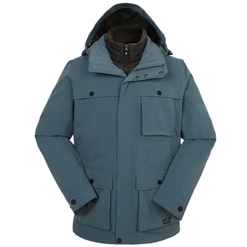 狼爪Jack wolfskin  男装 2020冬季新款运动户外休闲三合一冲锋衣  5120191-1159