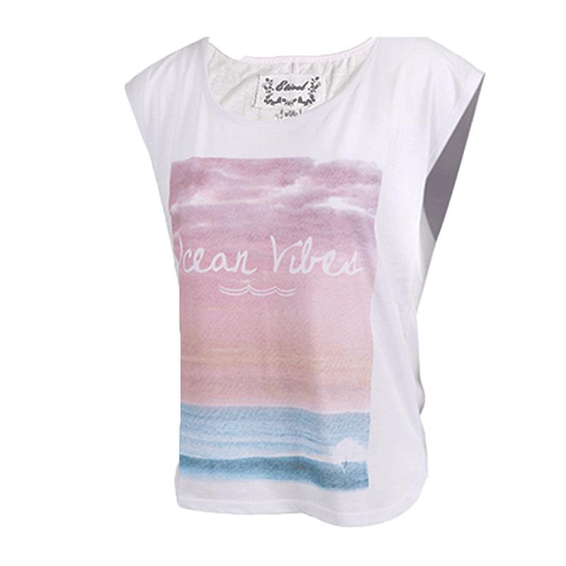 ETIREL女装 春夏 运动休闲短袖T恤轻薄针织上衣267075-001