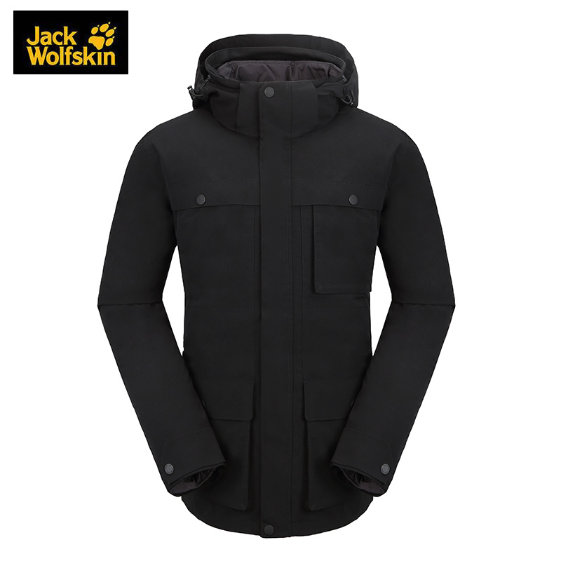 狼爪Jack wolfskin  男装 运动户外防风三合一冲锋衣  5120191-6000