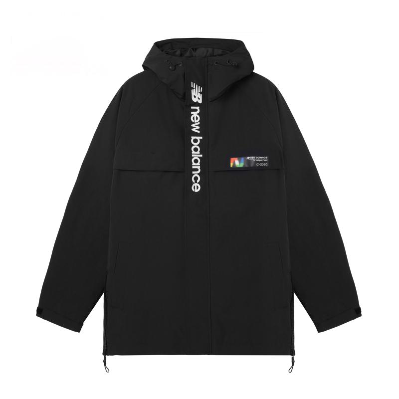 NEW BALANCE 男装 运动休闲梭织夹克外套 AMJ03330-BK
