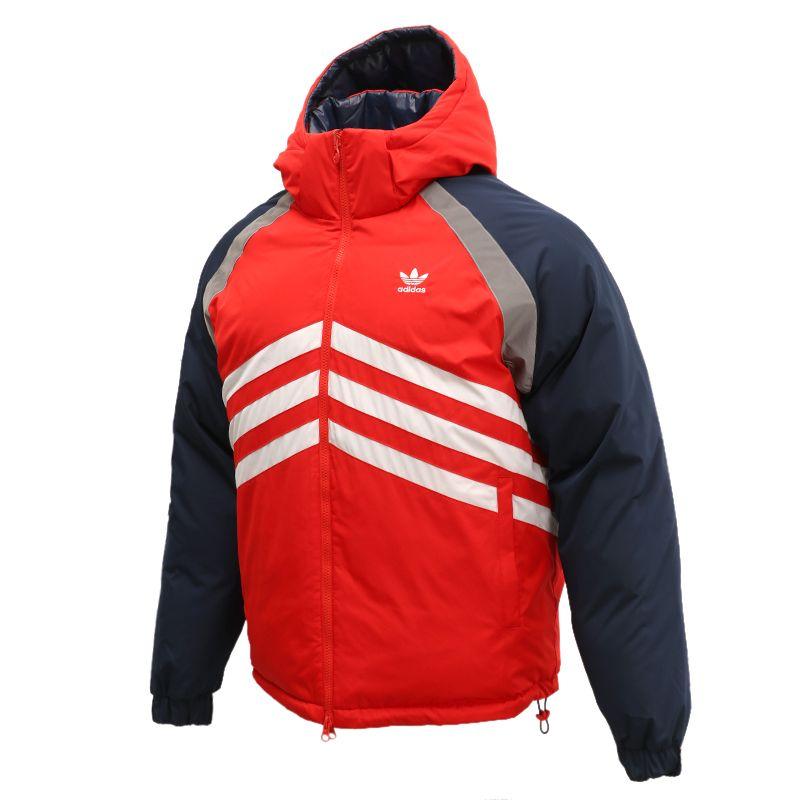 阿迪达斯三叶草ADIDAS  男装 2020冬季新款两面穿加厚羽绒服 GJ6725