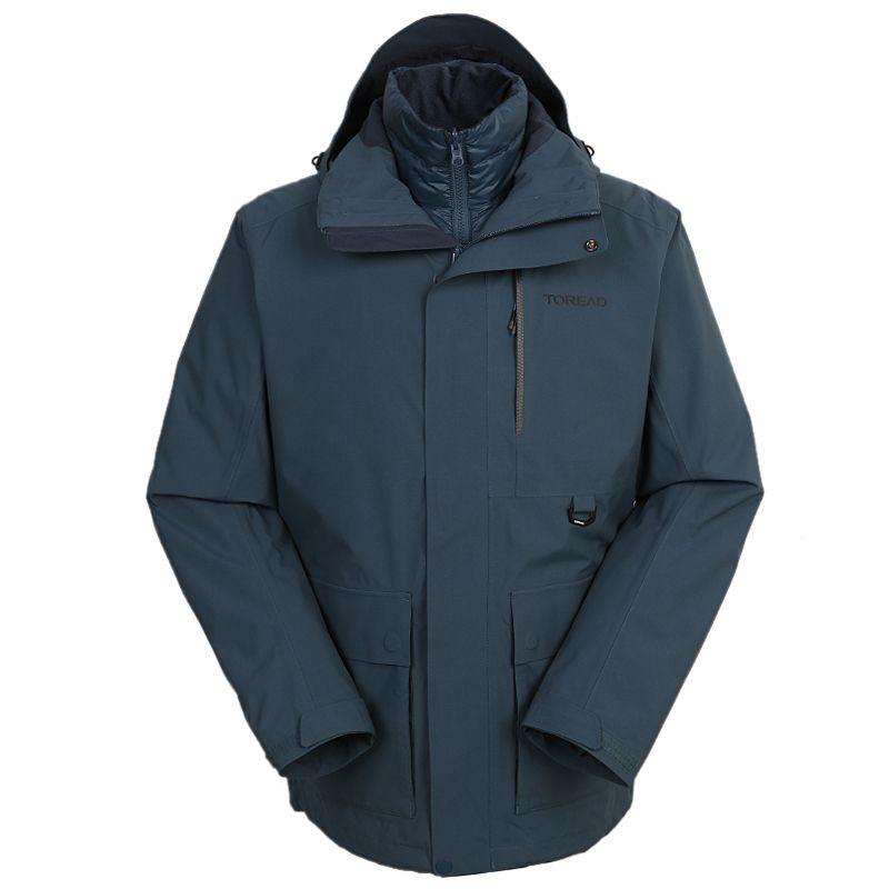 探路者TOREAD 男装 2020冬季新款户外防风二合一冲锋衣 TAWI91113-C27X