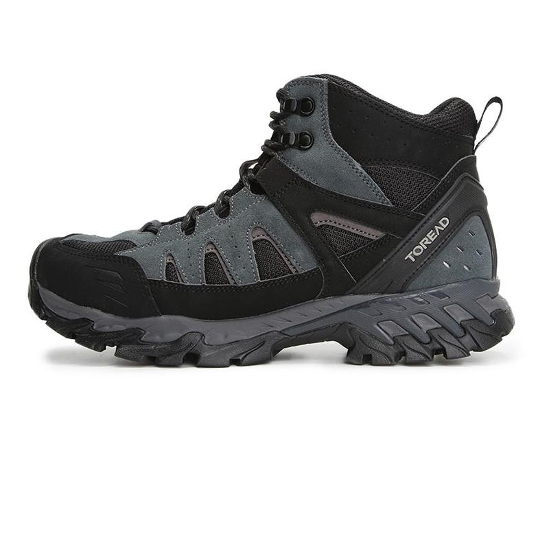 探路者TOREAD 男鞋 2020冬季新款户外高帮缓震厚底运动休闲徒步鞋 TFBI91703-G01G