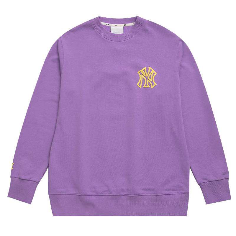 MLB 男女 2020冬季新款长袖宽松涂鸦印花运动休闲套头衫 31MT01041-50V
