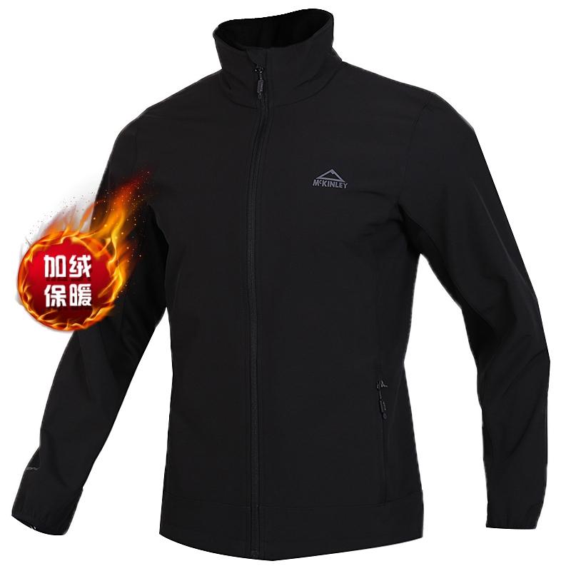 McKINLEY 男子 户外运动服防风休闲软壳夹克外套 300990-050