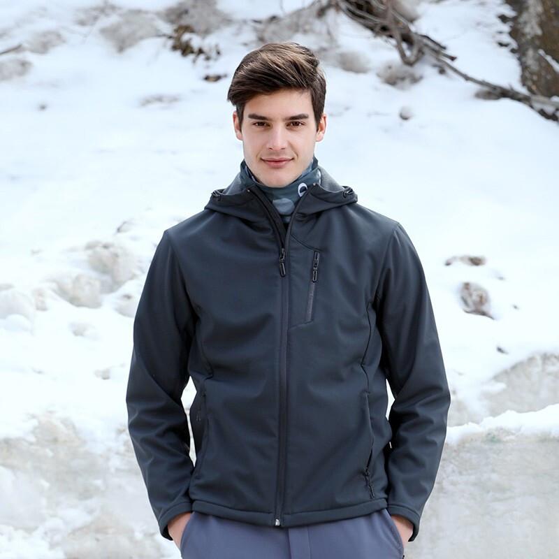 探路者 TOREAD 男子 2020冬季新款户外弹力保暖软壳衣外套 TAEH91286-F87X