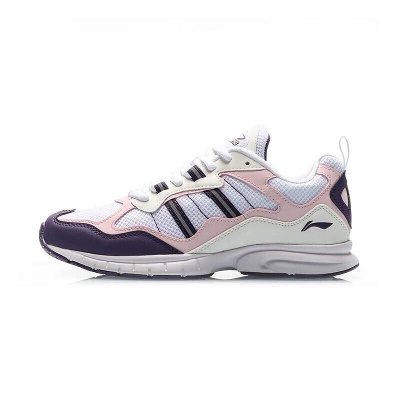 李宁 LI-NING 女子 复古轻质鞋子运动休闲鞋慢跑鞋 ARBP064-3
