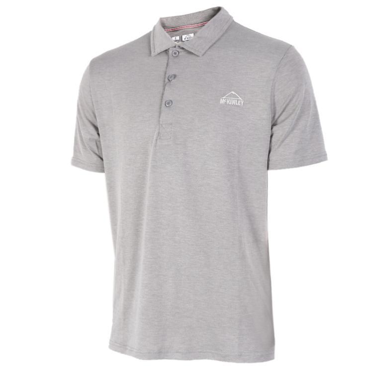 MCKINLEY肯励男装  透气耐磨舒适翻领Polo衬衫T恤266944-035