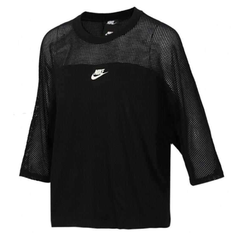 耐克NIKE 女装 休闲速干训练透气舒适圆领上衣短袖T恤 AT4203-010