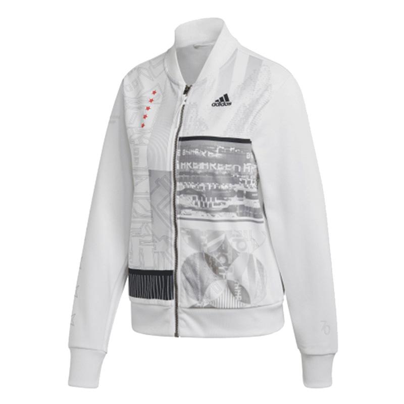 阿迪达斯 adidas 女子 透气舒适防风休闲外套针织立领夹克 FS8983