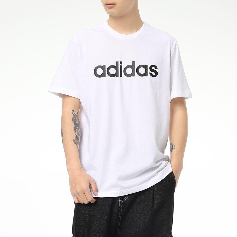 阿迪达斯生活Adidas NEO  男装 2021新款时尚透气半袖运动休闲T恤 GP4885