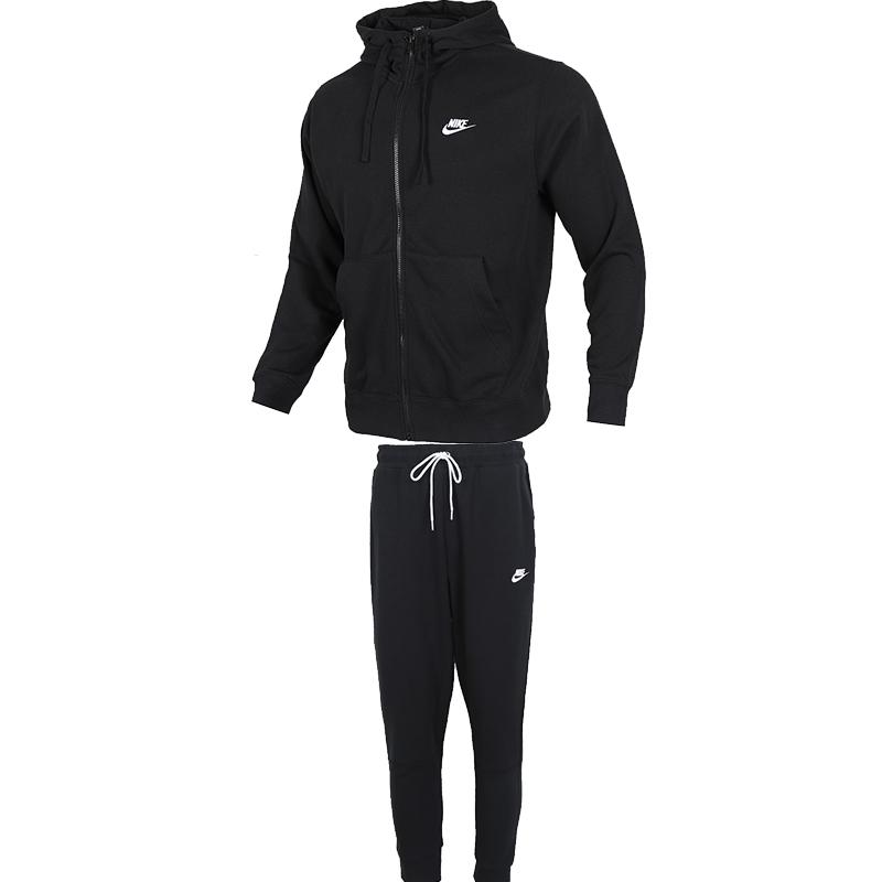 TZ 耐克NIKE 男   2021户外宽松休闲健身跑步运动服夹克外套长裤运动套装  TZ-BS-BV2649-010和CU4458-010