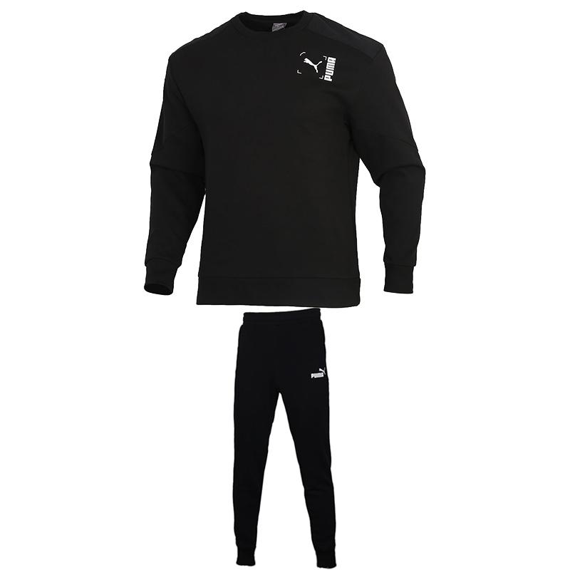 TZ 彪马PUMA  男装   圆领梭织拼接卫衣套头衫跑步训练健身透气收脚长裤  TZ-BS-585239-01和852429-01