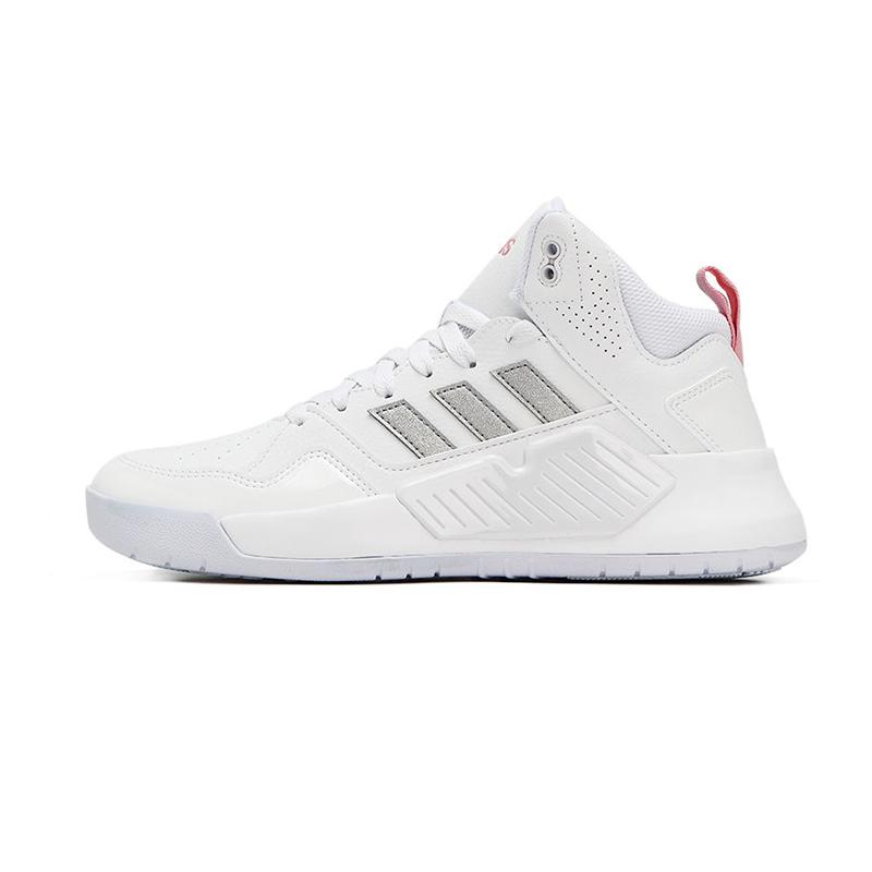 阿迪生活Adidas NEO 女鞋 2021春新款运动鞋缓震耐磨小白鞋轻便高帮板鞋 FZ1043