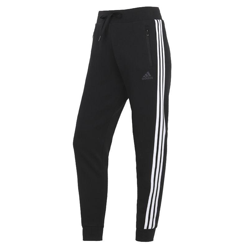 阿迪达斯ADIDAS 女装 2021春季新款运动裤跑步训练健身舒适透气休闲针织长裤 GT6826
